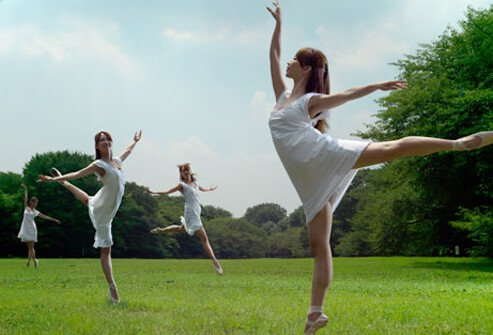 Photo of dancers in park.