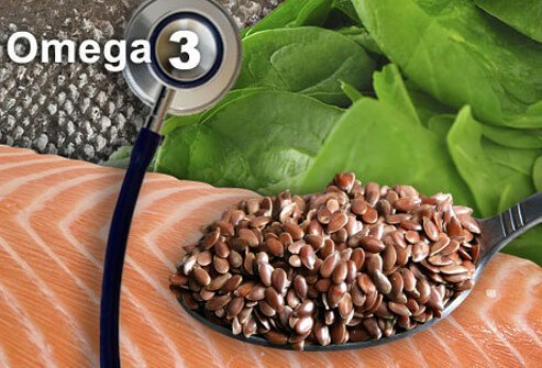Different sources of omega-3 fatty acids.