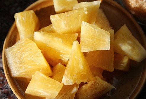 Pineapples are high in fiber and vitamin C and they have anti-inflammatory properties.