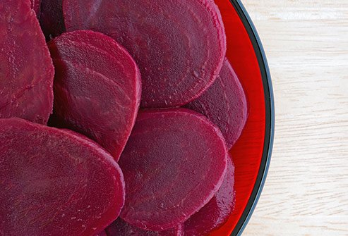 Beets are rich in fiber and antioxidants.