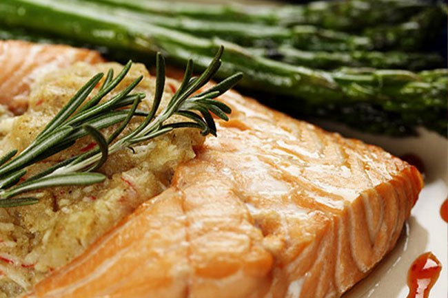 Eat two servings of fatty fish per week to protect your heart.