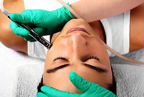 Microdermabrasion reduces the look of age spots, fine lines, and other skin imperfections.