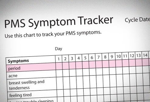 To figure out whether you have PMS, record your symptoms on a tracking form like this one.