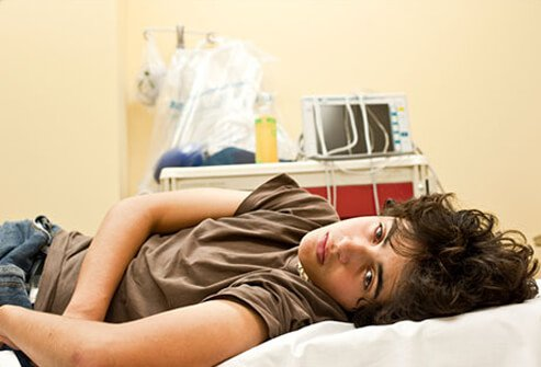 A teenage male in the hospital exhibits signs and symptoms of prescription drug abuse.