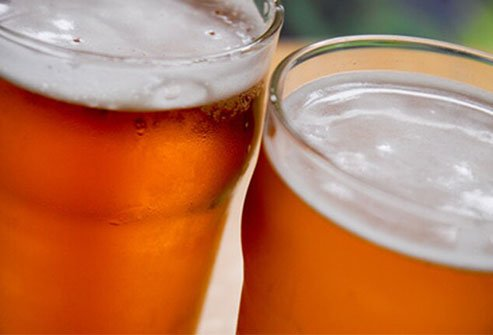 "Beer is high in calories and may help you grow a ""beer belly."""