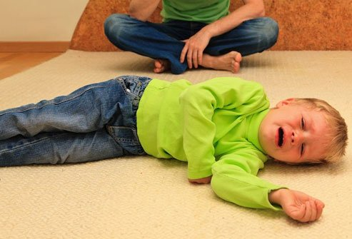 It may be hard for kids to breathe when they cry or get scared.