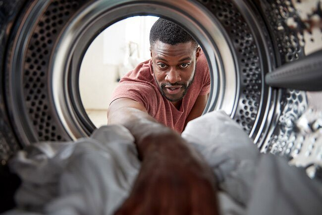 Front-loading washing machines may smell musty because they are reservoirs for growing mold.