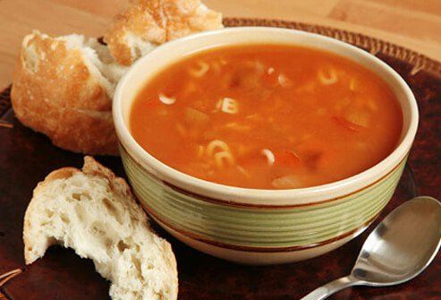 Bowl of Soup with Bread.
