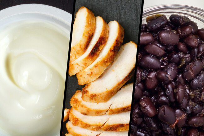 Eat a variety of different types of protein throughout the day.