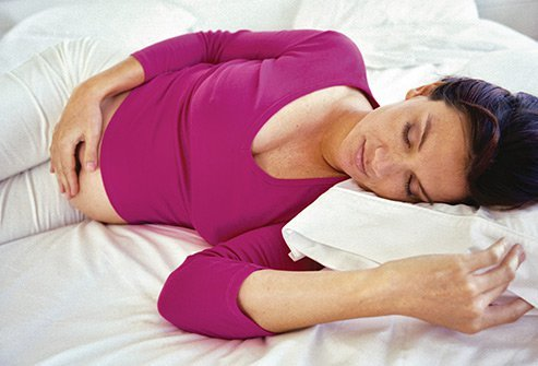 If you are pregnant, sleeping on your stomach or back will be uncomfortable or impossible.