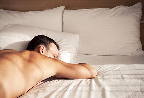Stomach sleeping may cause problems.