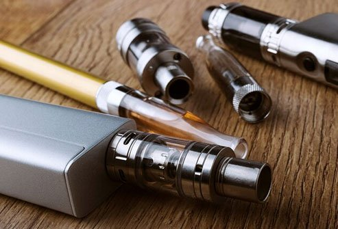 It's when you use a handheld tube, or tank, attached to a mouthpiece that makes a vapor you inhale.