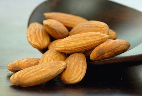 Small gathering of Almonds.