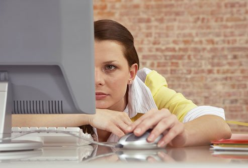 Sitting at a desk can cause pain in your back and neck.