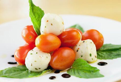 Photo of caprese salad.