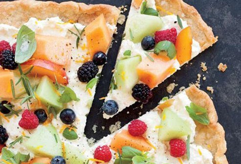 Photo of fruit pizza.