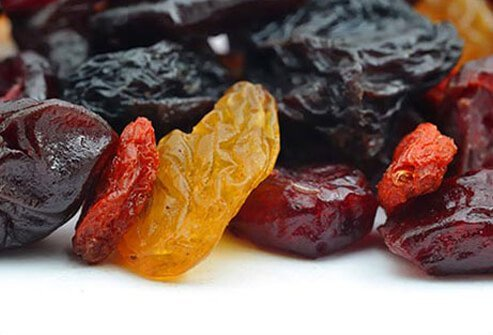 Dried fruit can be part of a healthy diet, but be sure to eat less of it than fresh fruit.