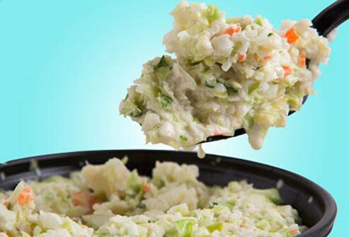 With so many vegetables, coleslaw may seem to be a healthy side dish. But looks can be deceiving. Slide Title