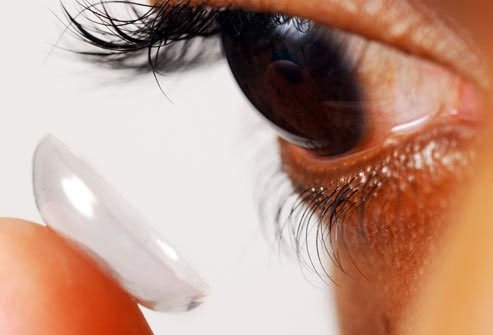 Clean your contact lenses to protect your vision.