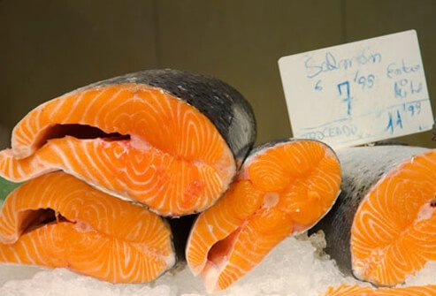 Photo of fresh salmon.