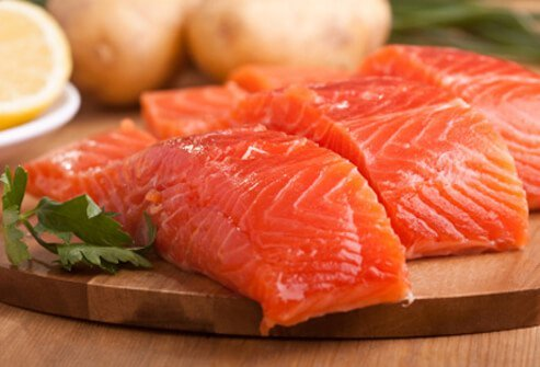 Salmon is loaded with omega-3 fatty acids, vitamin B12, and iron.