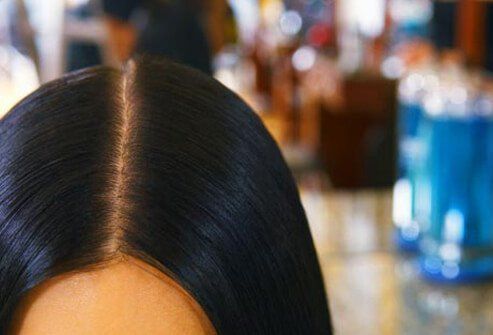 Salon-based keratin hair treatments can deliver silky, smooth locks with no frizz.