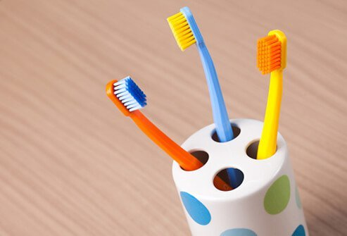 Toothbrush holders are one of the dirtiest items in the house.
