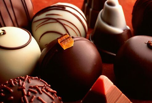 Assortment of Chocolate Truffles.