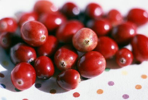 Pile of Cranberries.