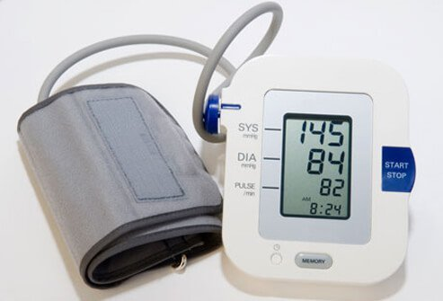 Photo of a blood pressure monitor.