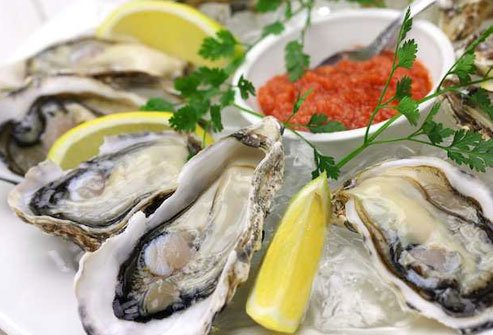 Oysters are the best food source of immune-boosting zinc.