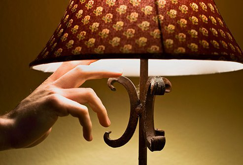Exposure to lights and screens at night decrease melatonin levels and can impede sleep.