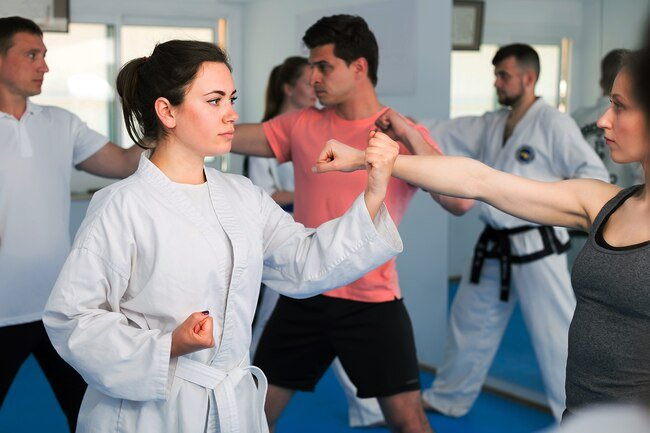 Get into shape and learn self defense by practicing martial arts.