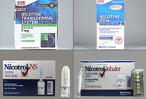 CVS Nicotine 7 MG/24HR Patch, CVS Nicotine 2 MG Chewing gum, Nicotrol Cartridge Inhaler, Nicotrol NS 10 MG/ML Spray
