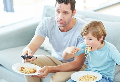Eating while watching TV can lead to mindless eating.