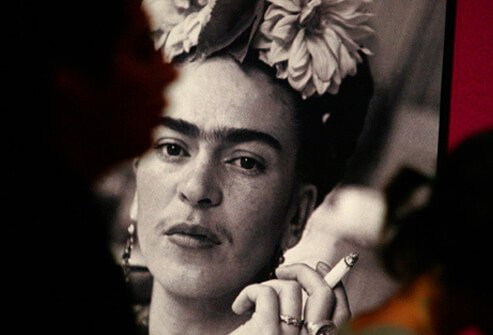 Photograph of Frida Kahlo.
