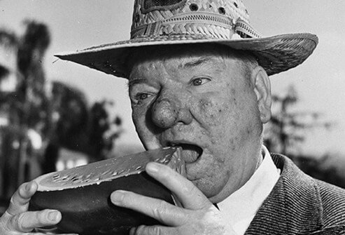 Photograph of comedian W.C. Fields.