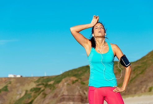 You might be fine exercising outside when it is 85 degrees and the humidity is low.