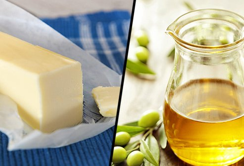 Does butter or olive oil have more saturated fat?