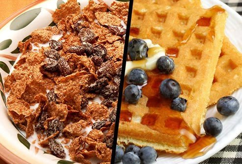 Raisin Bran or Blueberry Waffle?
