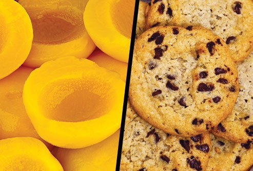 Canned Peaches or Chocolate Chip Cookies