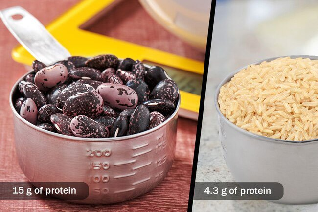 Beans are a great way to get protein that already has the fiber and carbs mixed in.
