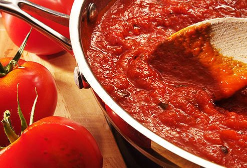 Tomato sauce and tomato puree are loaded with potassium.