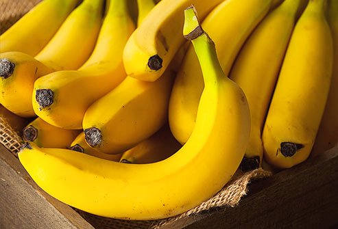 Bananas are high in potassium.