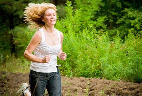 If you like to sweat a bit more when you exercise, try jogging to get your heart rate up.