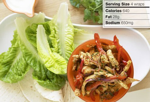 Photo of chicken lettuce wraps.