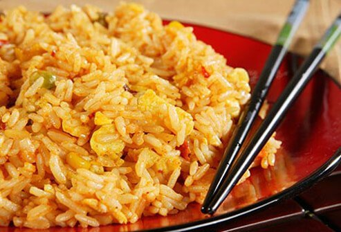 Vegetarian fried rice can pack an unhealthy wallop.