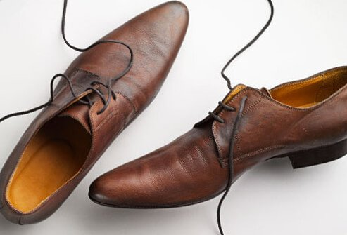Photo of mens' shoes.