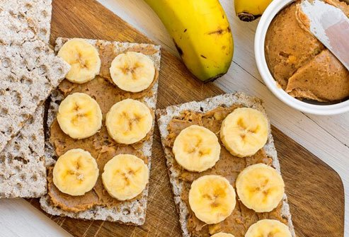 Experts say the best way to go is a snack that's a combination of carbs to give you fuel and protein.